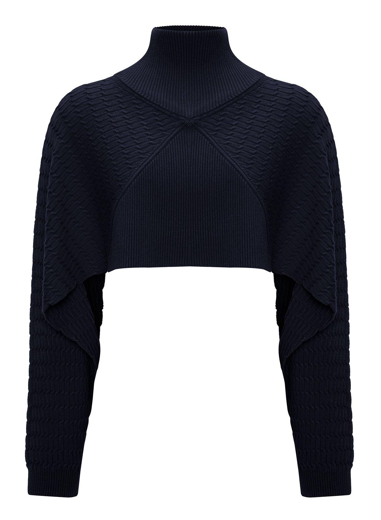 LOOSE FIT NAVY KNIT TOP