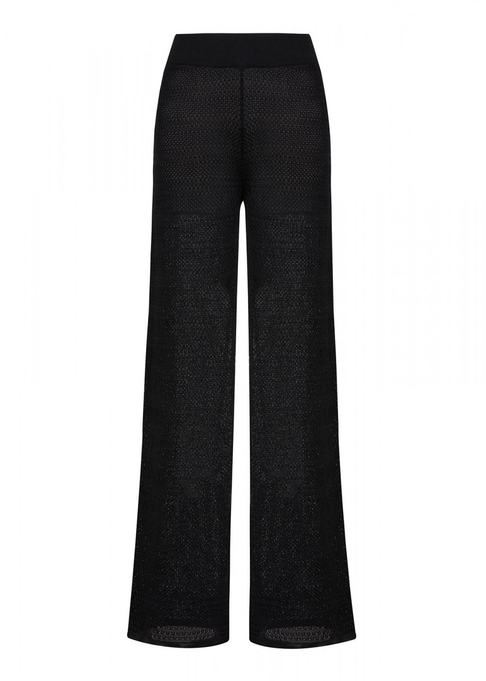 POINTELLE BLACK KNITTED PANT