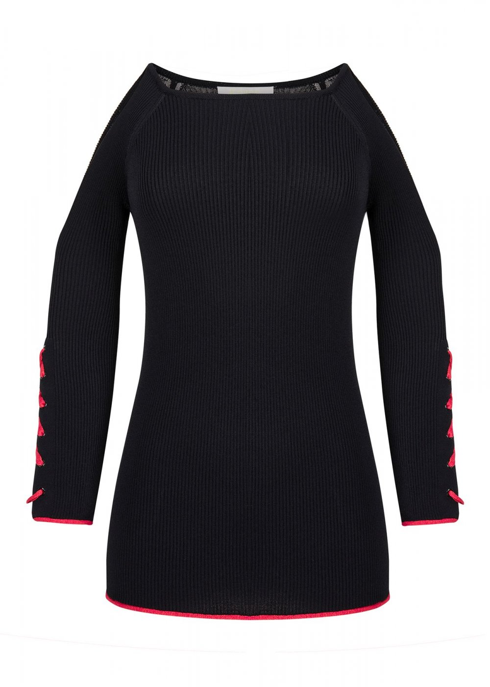 Long Sleeve Black Knitted Sweater