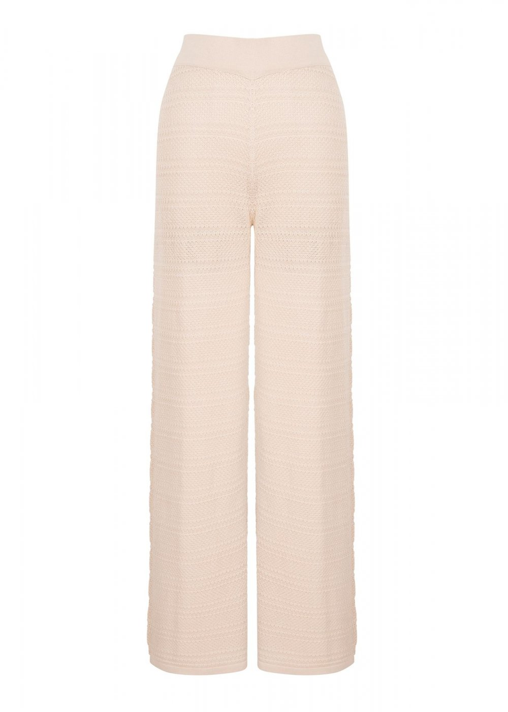 POINTELLE SAND KNITTED PANT