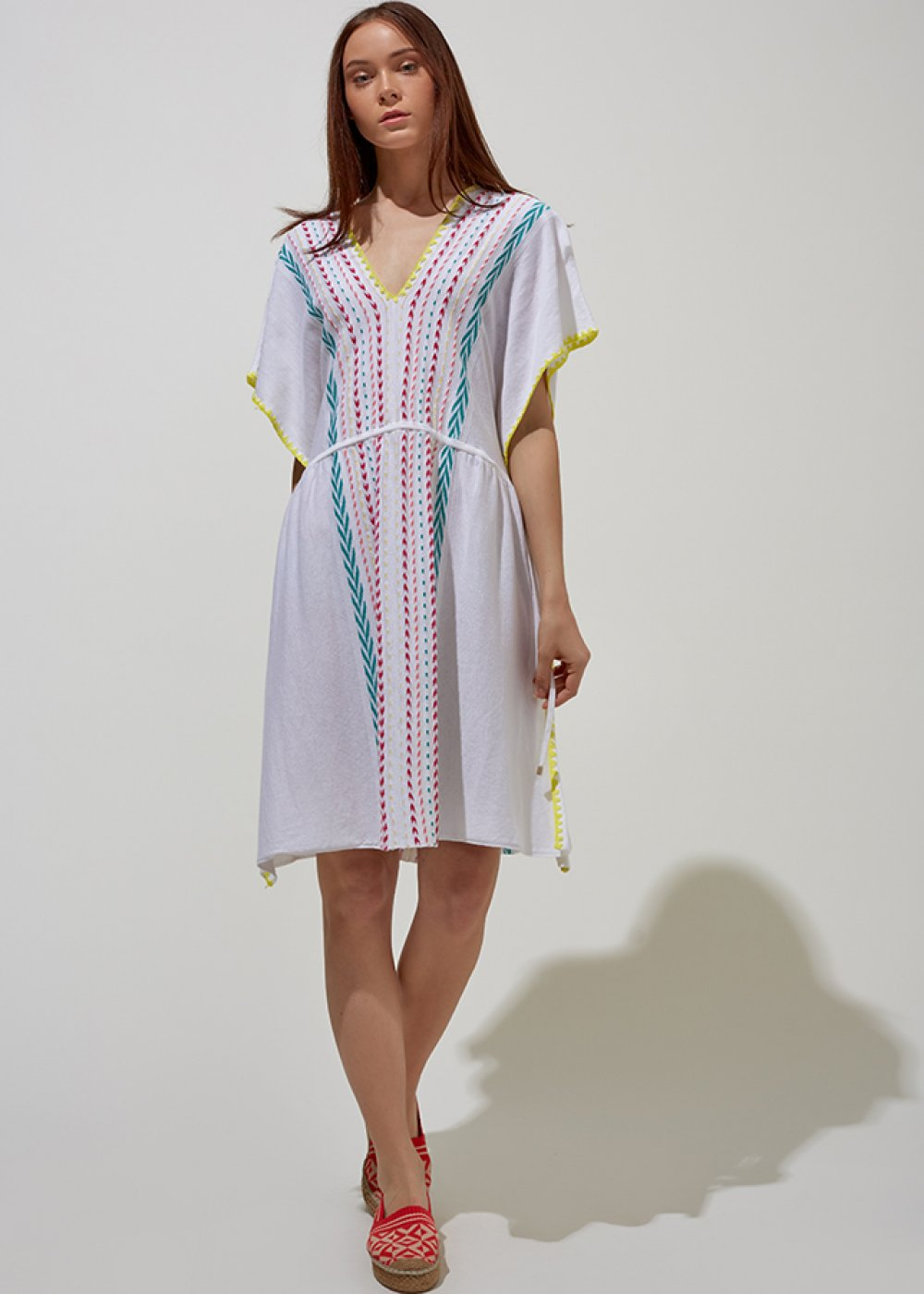 Oversized Pearl Knit Beach Dress