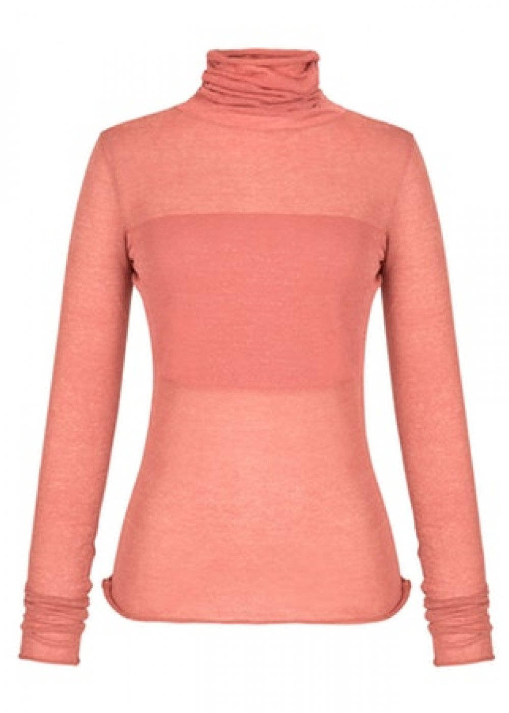 Long Sleeve Turtle Neck Dusty Pink Knit Top