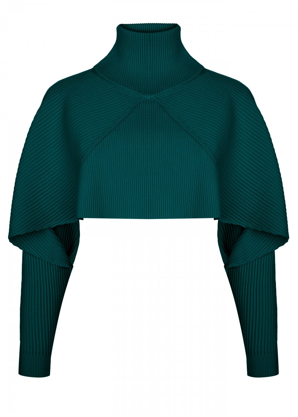 Long Sleeve Turtle Neck Ivy Green Knit Top