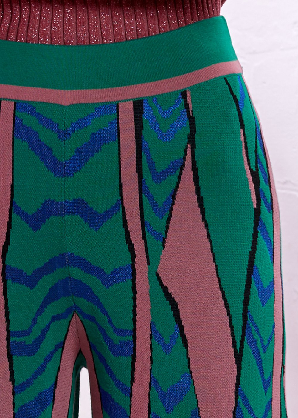 PATTERNED COLORFUL KNIT PANT