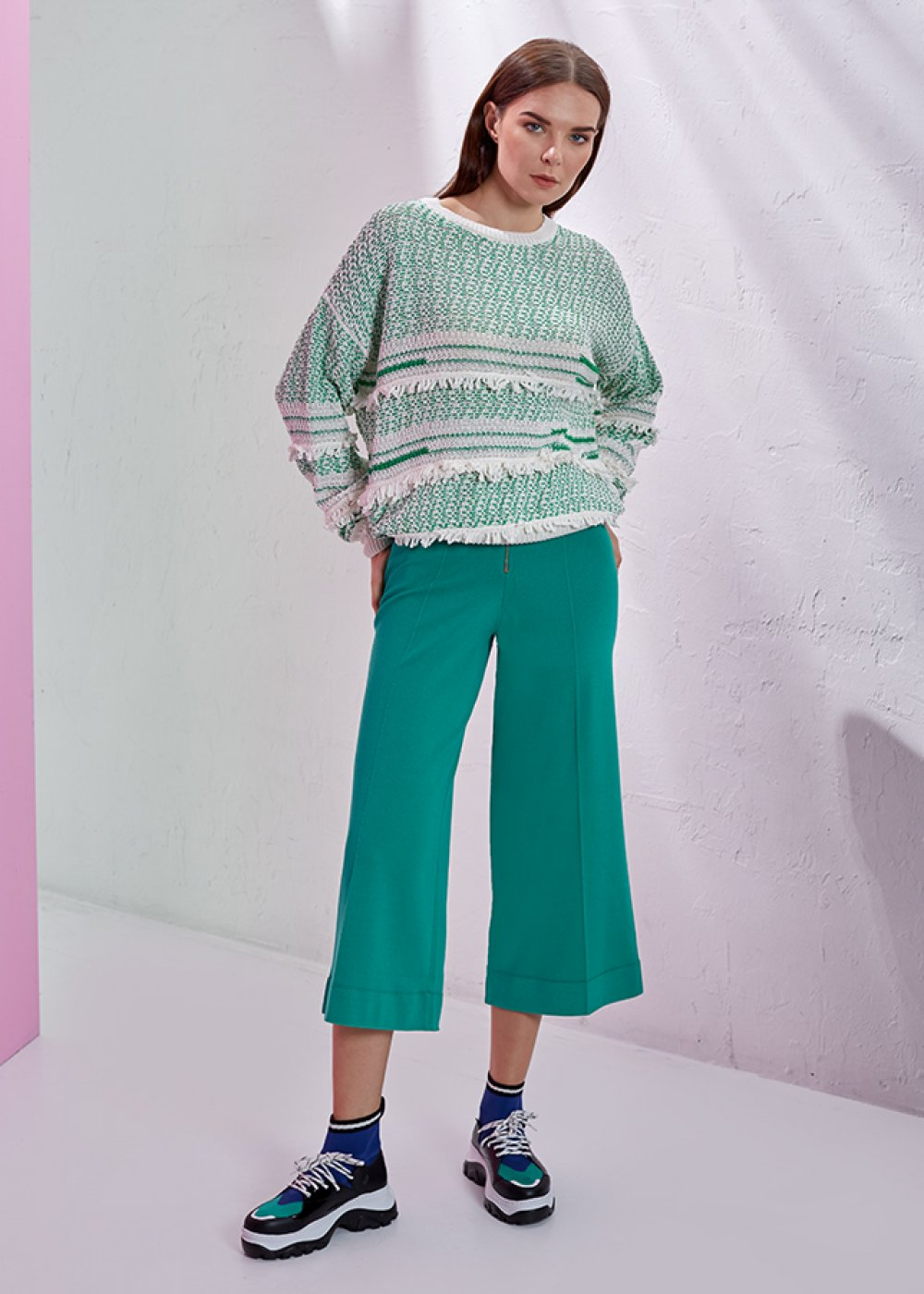 Tassel Detailed Jade Colour Sweater