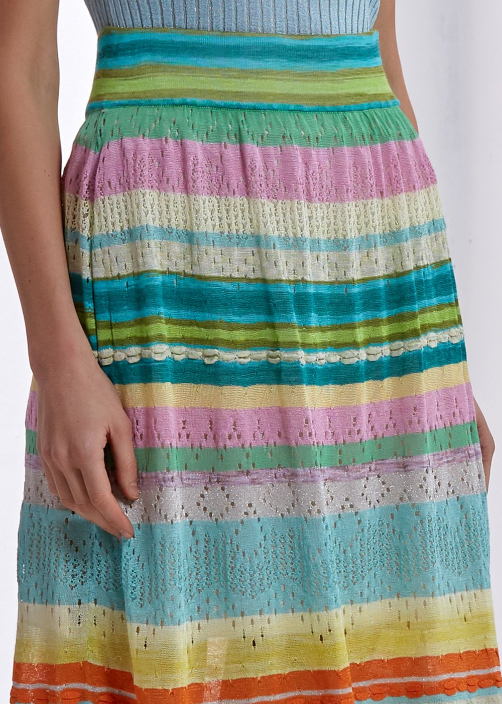 STRIPE PATTERNED COLORFUL SKIRT