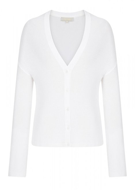 BUTTONED WHITE CARDIGAN