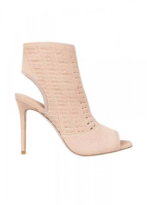 HIGH HEELS OPEN BLUSH KNIT BOOTIE