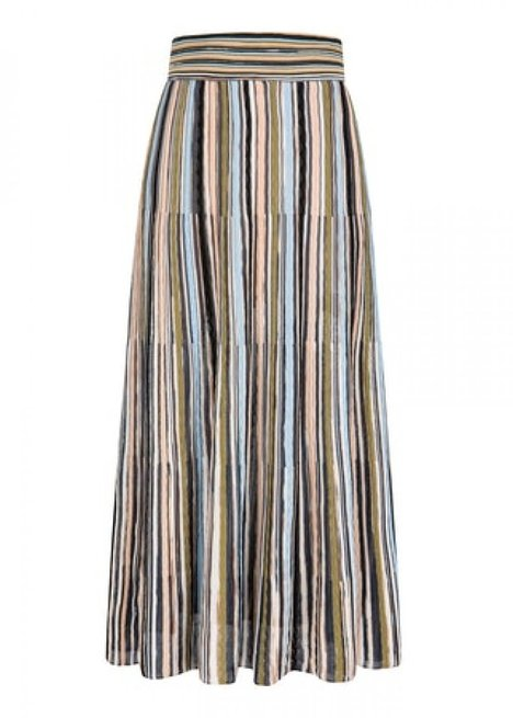Mono Striped Maxi Knit Dress