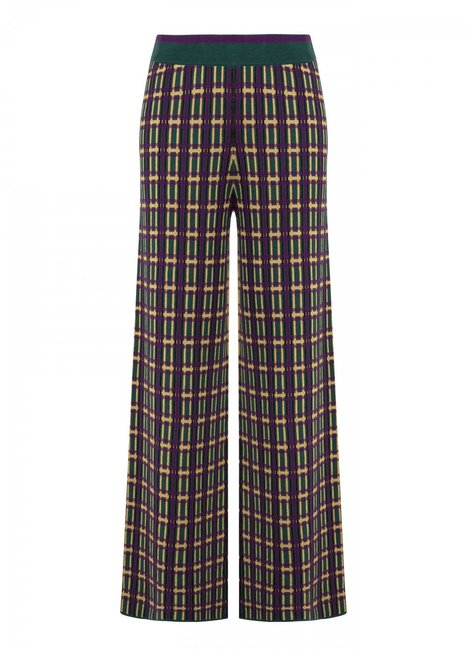 Boot Cut Wool Blend Knit Trousers
