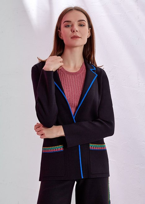 KNIT BLAZER JACKET
