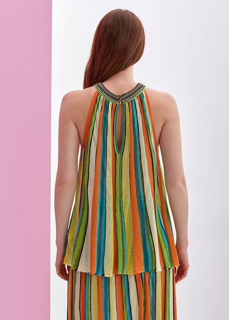 Multicolour Striped Knit Top