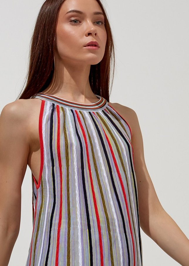 STRIPE PATTERNED COLORFUL TOP