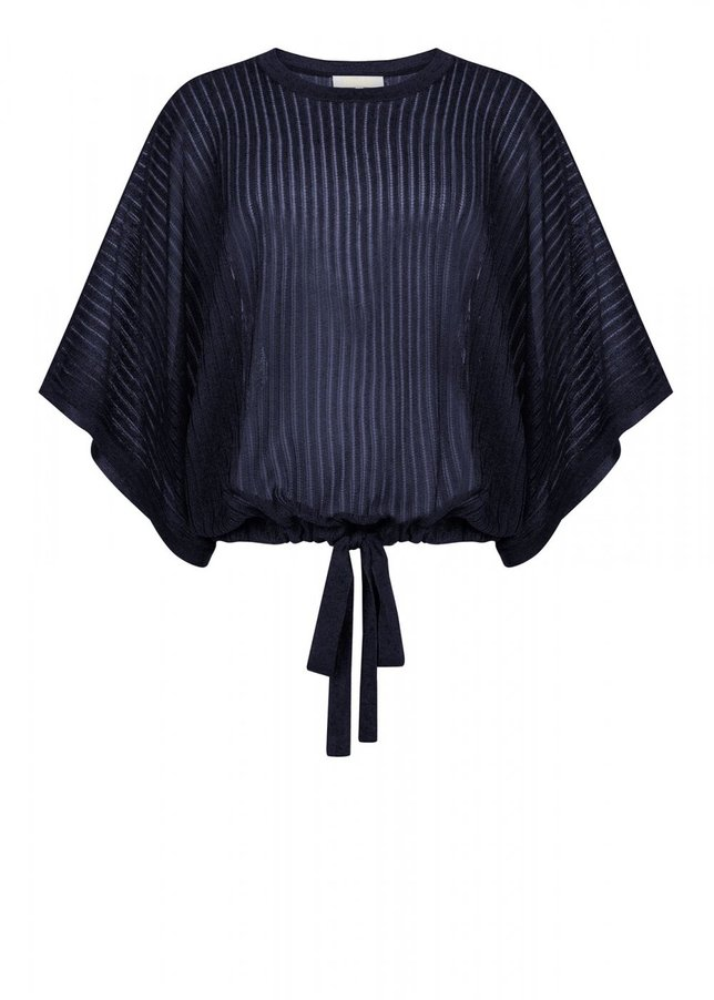 OVERSIZE NAVY KNIT TOP