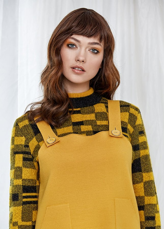 Pure Wool Amber Gilet Knit Mini Dress