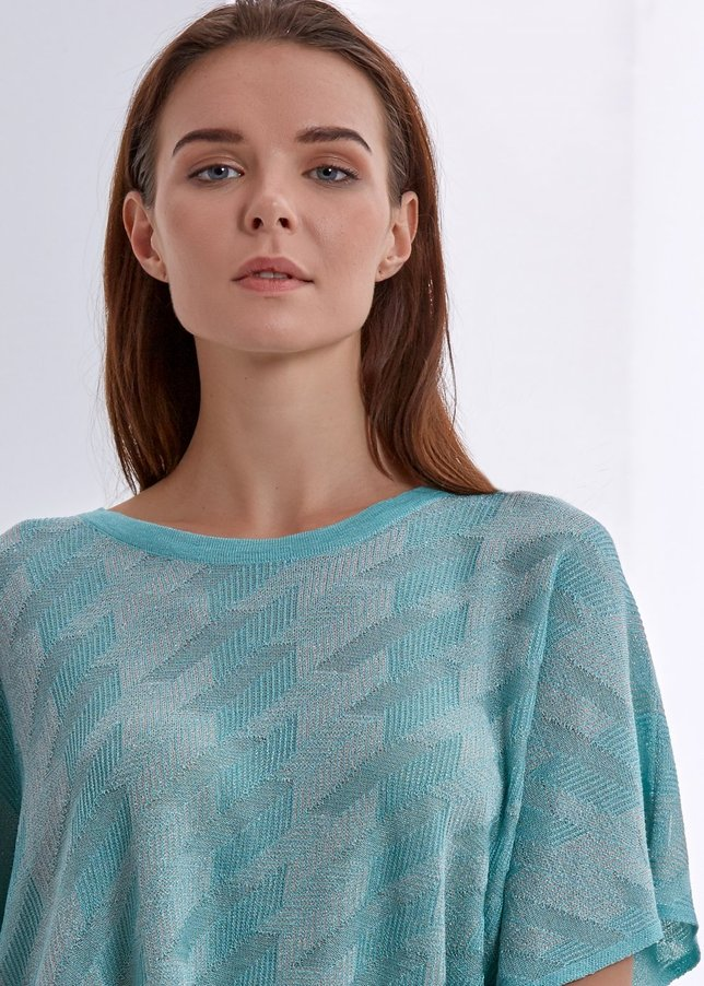 Blue Comfortable Knit Top